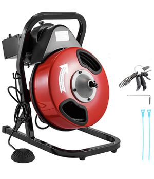 """BRAND NEW 50 Feet by 1/2 Inch Electric Drain Auger with 4 Cutter & Foot Switch Drain Cleaner Machine Sewer Snake Drill Drain Auger Cleaner for 1"""" to for Sale in Duarte, CA"""