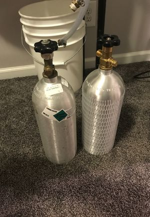 2- 5lb CO2 tanks used for home brewing for Sale in Sterling, VA