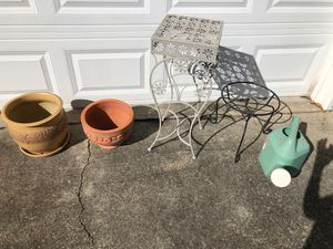 Clay Plant/Flower Pots and Plant Stands for Sale in Marietta, GA
