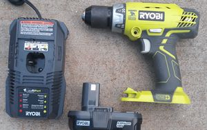 Ryobi 18-volt hammer drill driver kit for Sale in Greenville, SC