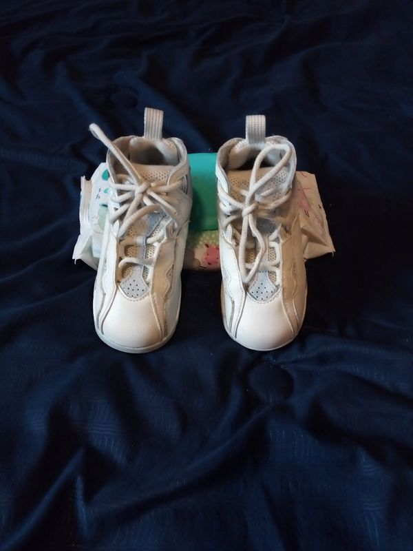 buy popular 8e727 58745 Baby Jordans True flight genuine leather, Size 7