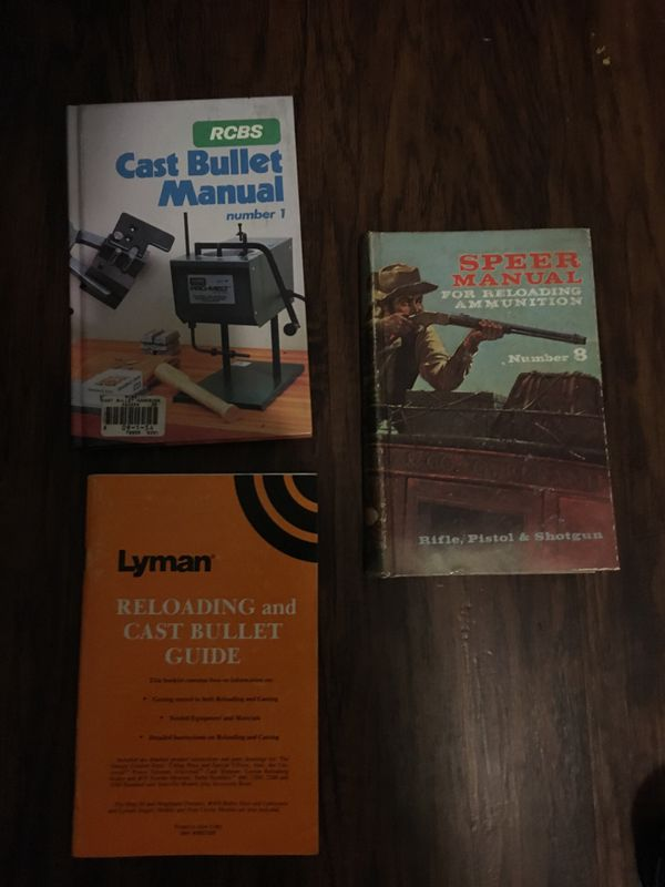 Old reloading books Speer Lyman rcbs