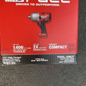 Milwaukee M18 Fuel 1/2 Inch High Torque $220 Tool Only for Sale in Westport, MA
