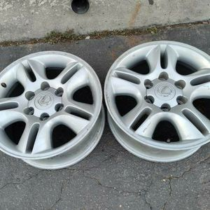 Two lexus GX470 17 inch aluminum wheels. 6 lug, fits toyota. $60 each for Sale in Montebello, CA