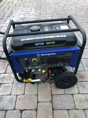 Westinghouse WGen9500DF Dual Fuel Portable Generator-9500 Rated 12500 Peak Watts Gas or Propane Powered-Electric Start-Transfer Switch & RV Ready, CA for Sale in West Palm Beach, FL