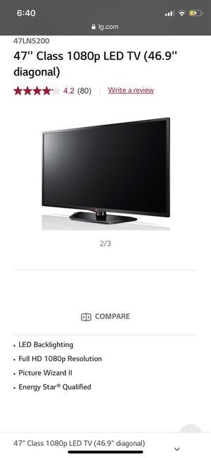 47 Inch LG TV for Parts! for Sale in Sterling, VA