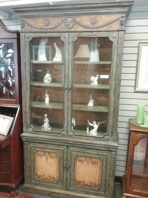 Breakfront, Cabinet, glass doors $450 for Sale in Warminster, PA