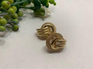 Multi Layer Metal Round Hoop Earrings, Gold for Sale in Tustin, CA