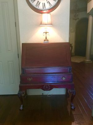 Beautiful carved wood Secretary / desk for Sale in Spring, TX
