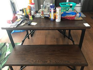 Brand new dining table with bench for Sale in Detroit, MI