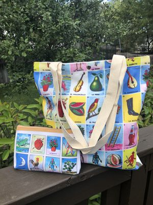 Loteria Tote Bag & Matching Accessory Bag for Sale in San Antonio, TX
