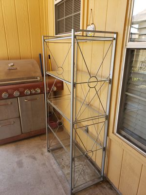 Metal & glass shelving unit for Sale in Mesquite, TX