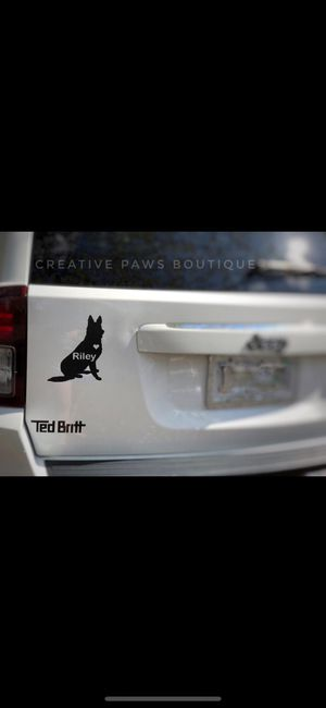 Customized dog decal for Sale in Fairfax, VA