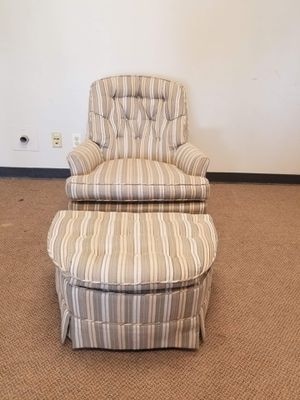 Tufted Chair and Ottoman Set for Sale in Denver, CO