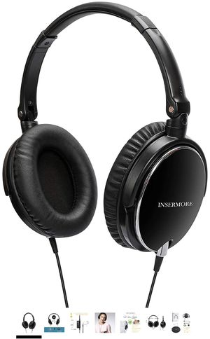 Active Noise Cancelling Headphones, INSERMORE AN01 Hi-fi Stereo Over Ear Headsets with Inline Mic, Foldable Travel Earphones for iPhone/Android/PC wi for Sale in Fairfax, VA