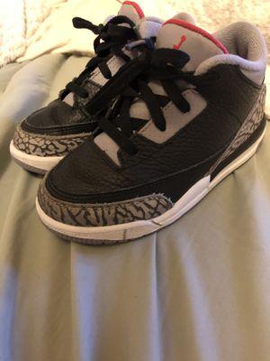 retro 3 black cement Jordans for Sale in Denver, CO