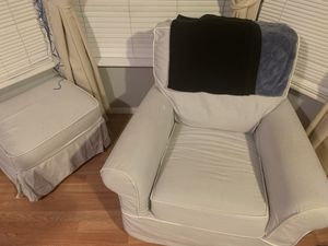 Pottery barn kids comfort glider and ottoman for Sale in East Los Angeles, CA