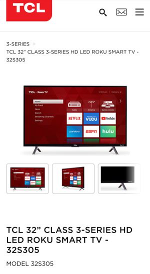 """TCL 32"""" Roku Smart TV for Sale in Austin, TX"""
