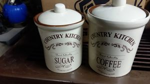 Sugar an coffee jars for Sale in Kingsport, TN