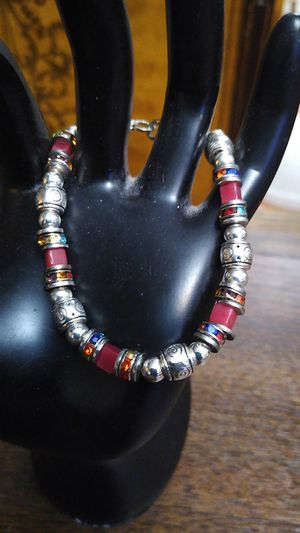 Red and silver color beaded bracelet for Sale in Los Angeles, CA