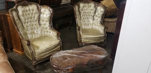 Exclusive!! Antiques furniture for sale several beautiful pieces custom chairs and hand carvings (chairs $300.00) (large chairs $300.00) for Sale in Los Angeles, CA