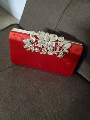 Red velvet clutch for Sale in Baltimore, MD