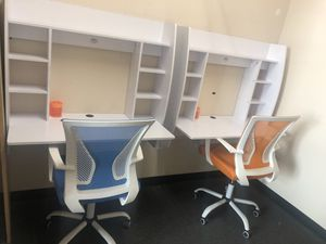 Two white wall desks !90/each for Sale in North Las Vegas, NV