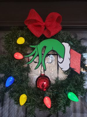 "Grinch wreath 14"" for Sale in Midland, TX"