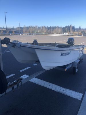 12' Sorensen with 20hp 2019 Tohatsu outboard downriggers salmon boat for Sale in Issaquah, WA