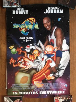 """1996 Space Jam promotional poster 27"""" x 40"""" for Sale in Los Angeles, CA"""