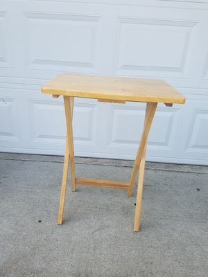 Solid wood tray table for Sale in Irvine, CA