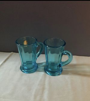 Tiara glass blue captain mugs for Sale in Fort Myers, FL