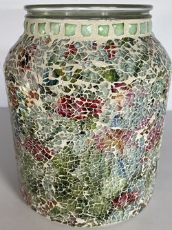 Illuminated Floral Mosaic Hurricane by Valerie - Brand New for Sale in Lynnwood,  WA