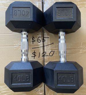 40 lb single / 80 lb pair Dumbbells for Sale in Covina, CA
