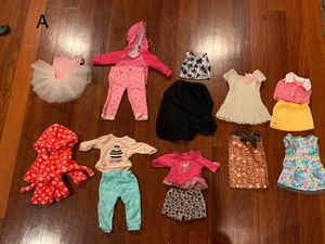 Doll Clothes fits American Girl Our Generation -8 outfits plus for Sale in Clark, NJ