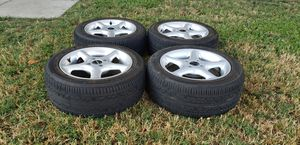 BORBET TYPE H 15X7 +35 4X100 HANKOOK TIRES 205/50 GREAT CONDITION for Sale in Montclair, CA