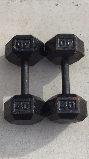 40lb Weight Iron Hex Dumbbells Pair for Sale in Las Vegas, NV