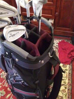 Golf Clubs Gary Player Black Night Titanium Oversized Irons Sw To 3. for Sale in Rancho Cucamonga,  CA