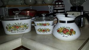 Teapot, petite pans and 3qt. Casserole dish. for Sale in Indianapolis, IN