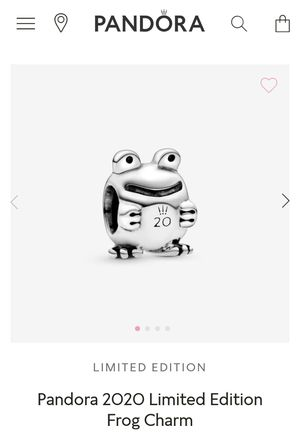 Pandora 20th Anniversary Frog Charm! for Sale in Pomona, CA