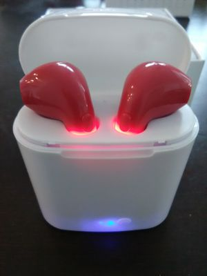 Brand new red wireless Bluetooth headphones earbuds with wireless charger box included. These are not airpods for Sale in Laveen Village, AZ