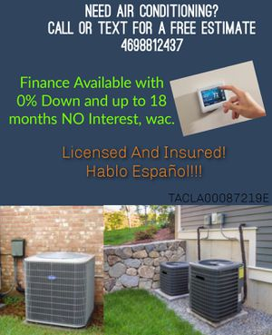 Air Conditioning for Sale in Dallas, TX
