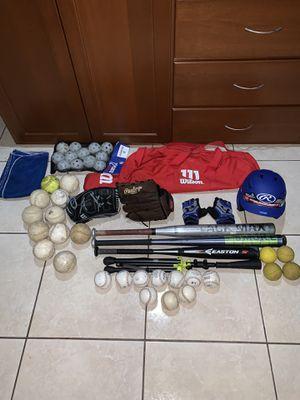 Baseball equipment (helmet,balls,gloves etc..) LOOK AT DESCRIPTION!!! Don't be afraid to offer for Sale in Houston, TX