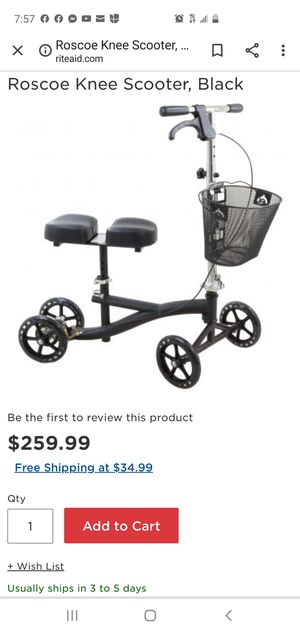 roscoe medical knee scooter for Sale in Fresno, CA