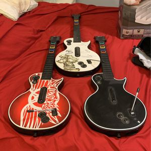 Xbox 360 Guitar Hero Guitars for Sale in Fountain Valley, CA