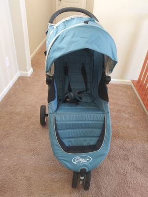 Baby Jogger City Mini Single Stroller Canopy - Teal/Gray. Original prize $259.99 Asking prize $130.00. Barely used. Very good condition. for Sale in Tracy, CA