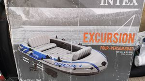 Four person Intex Excursion boat for Sale in Columbus, OH