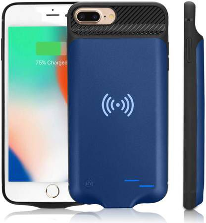 Qi Battery Case for iPhone 6 Plus/6S Plus/7 Plus/8 Plus, 5000mAh Portable Wireless Charging Battery Extra Battery External Battery Case Battery Recha