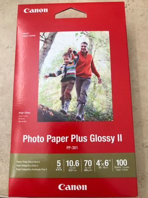 "Canon Paper Plus Glossy II— 4""x6""— 100 Sheets for Sale in St. Louis, MO"
