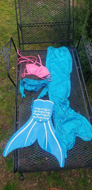New childrens mermaid bikini with mono tail 6-7 for Sale in Whittier, CA